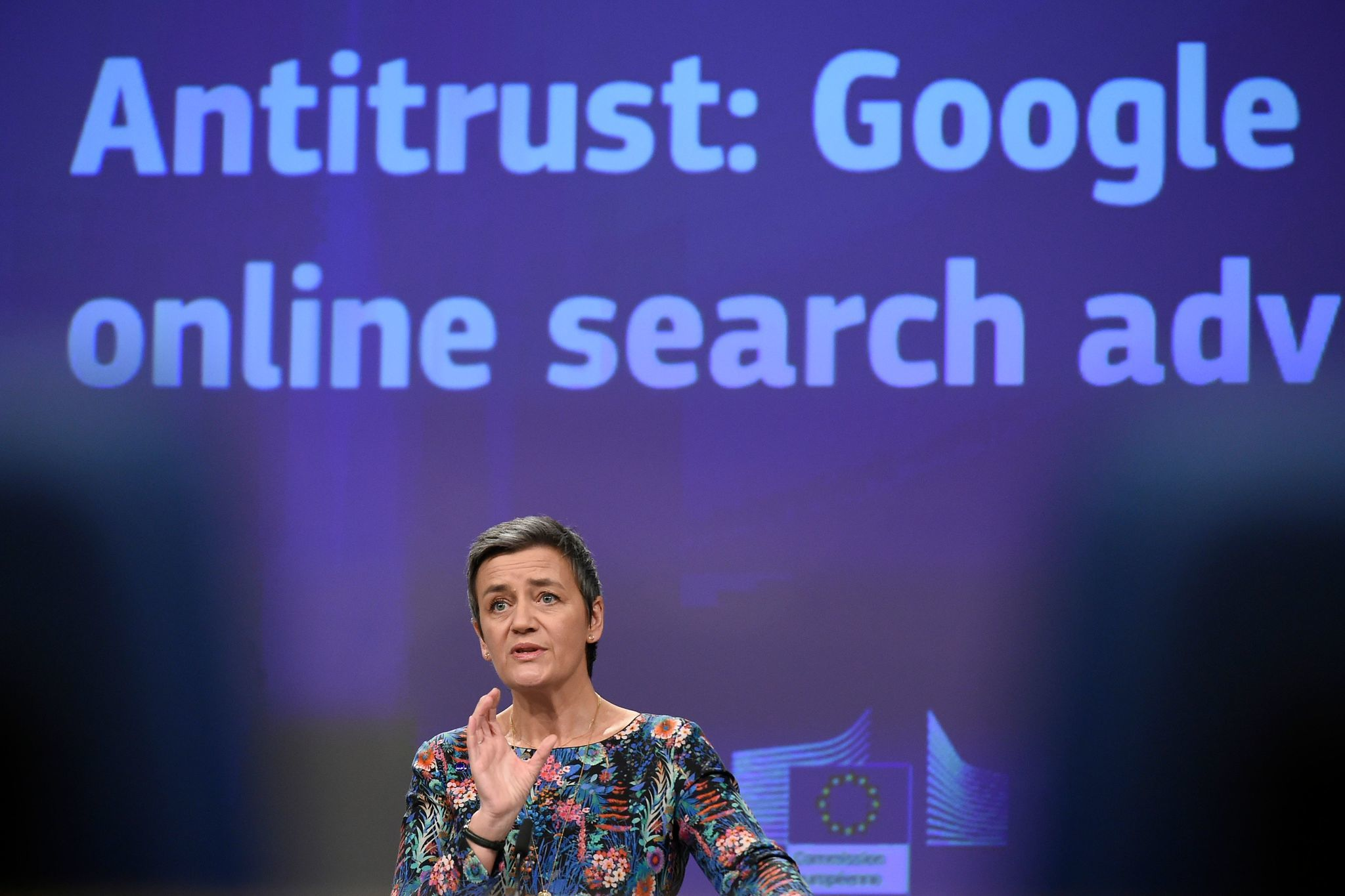 European Union hits Google with $1.7 billion fine for abusing online ads market