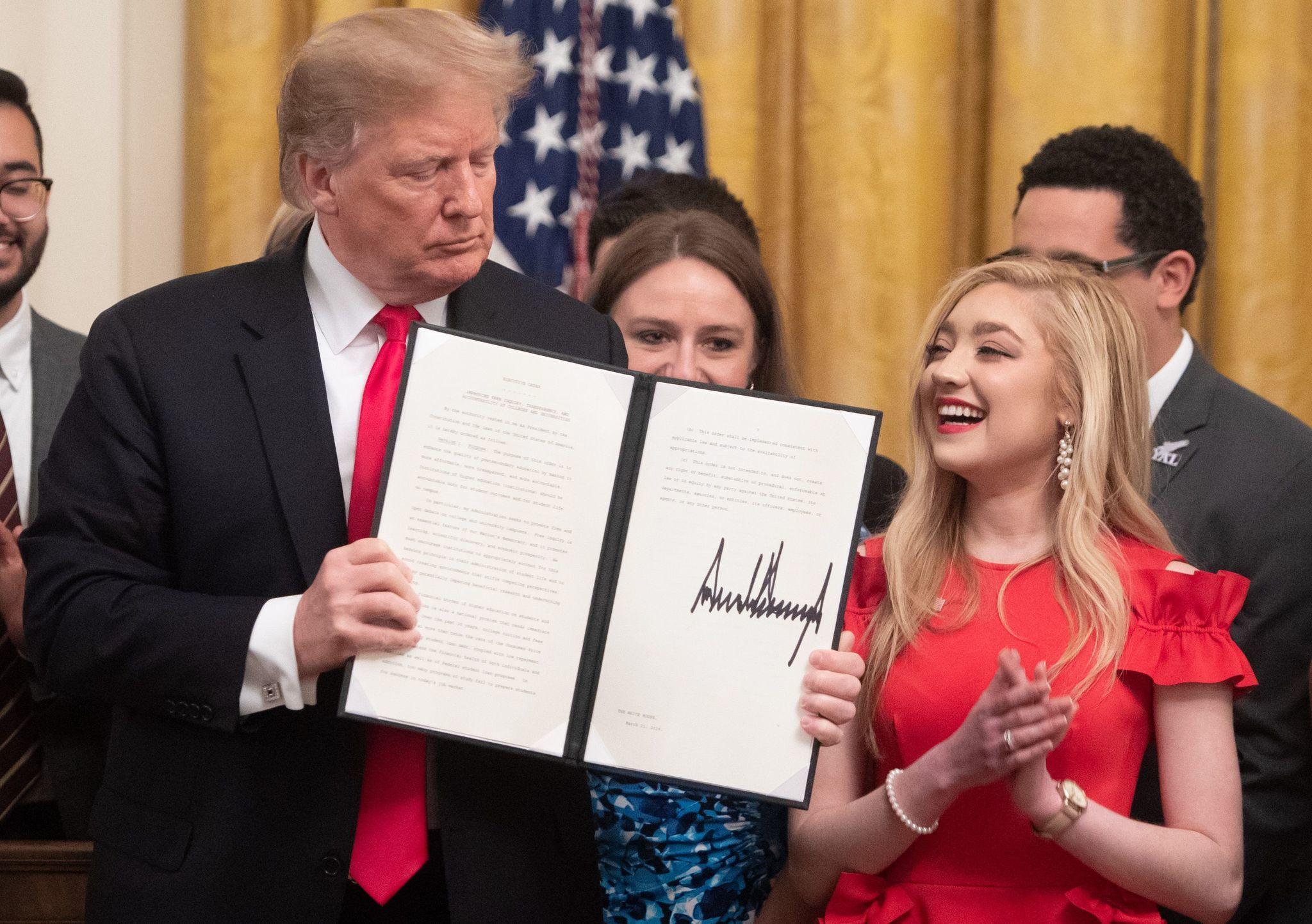 Trump signs executive order on free speech on college campuses