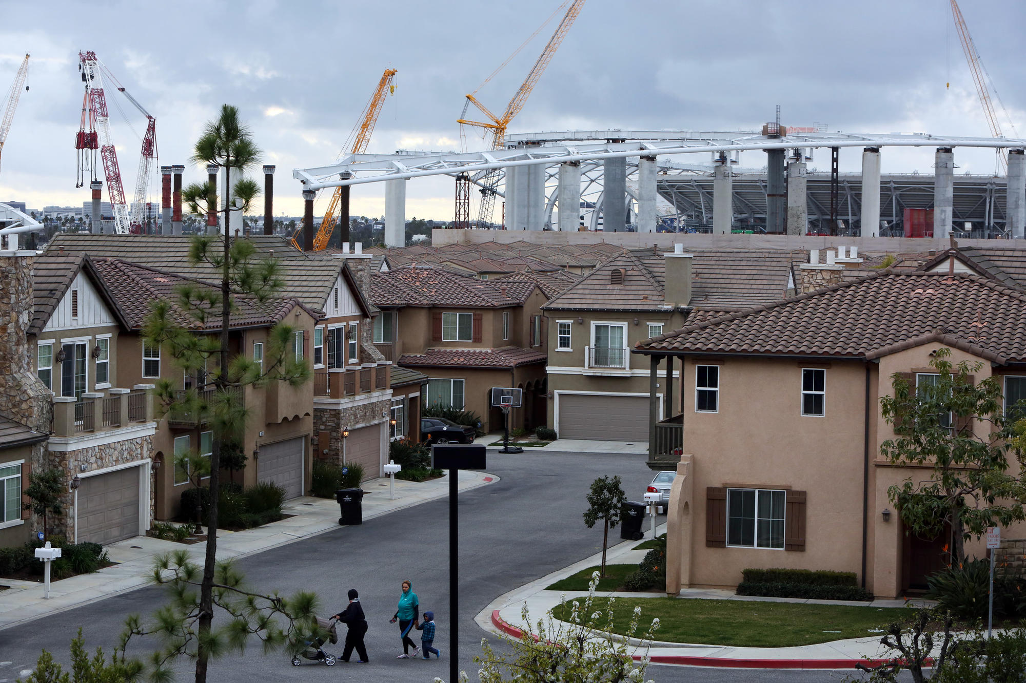 Gated community of Renaissance Homes in Inglewood