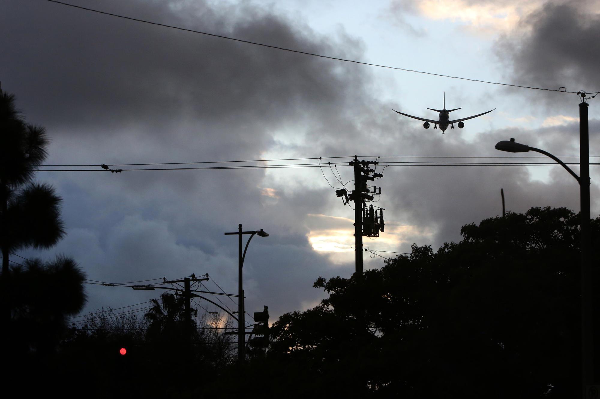 Plane flies over Inglewood