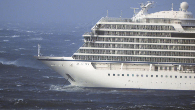 The cruise ship Viking Sky