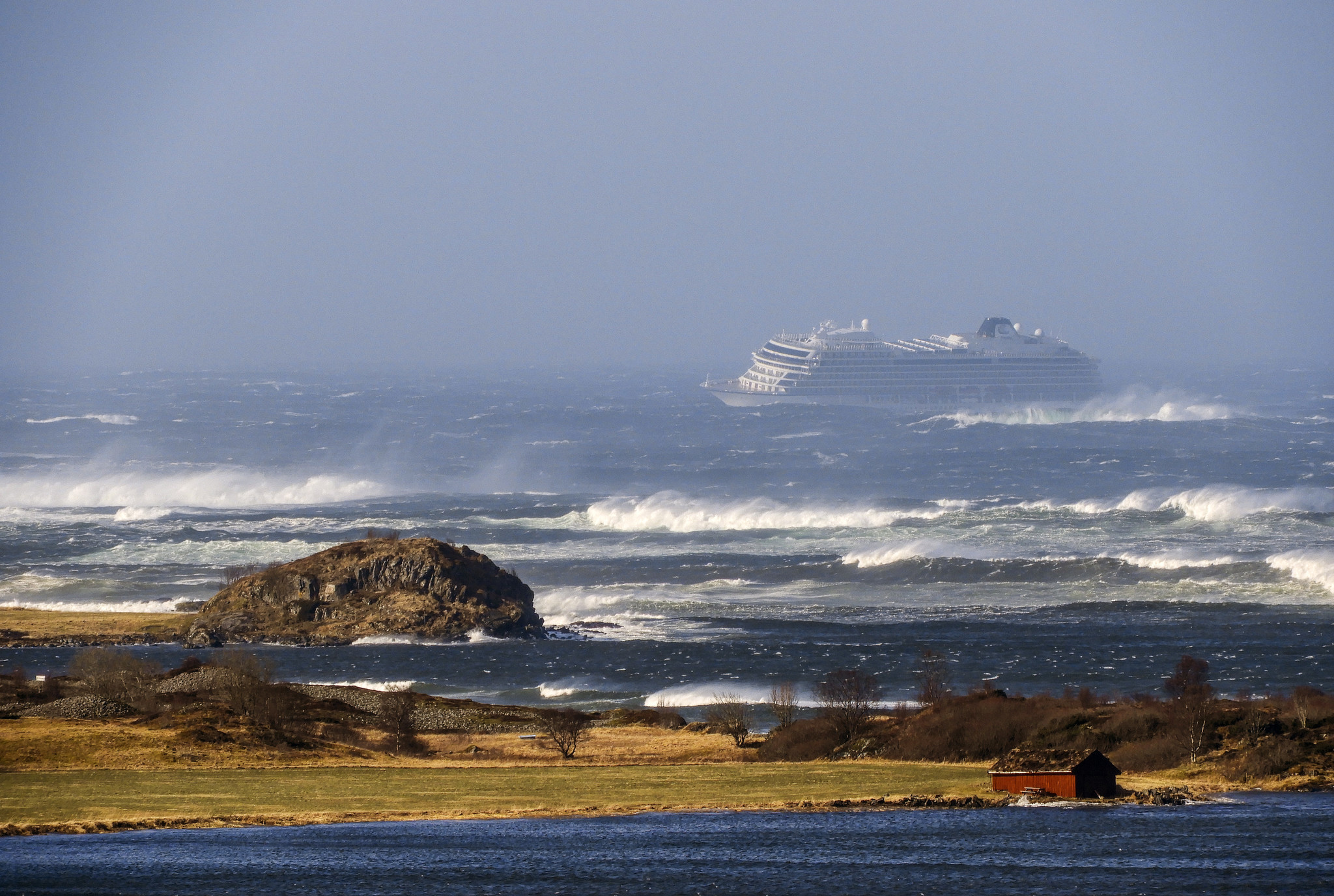 Passengers on board Norway cruise ship recount sweeping waters, tornado-like winds