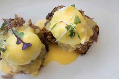 Gemini pork benedict at Gemini, 2075 N. Lincoln Ave. in Lincoln Park