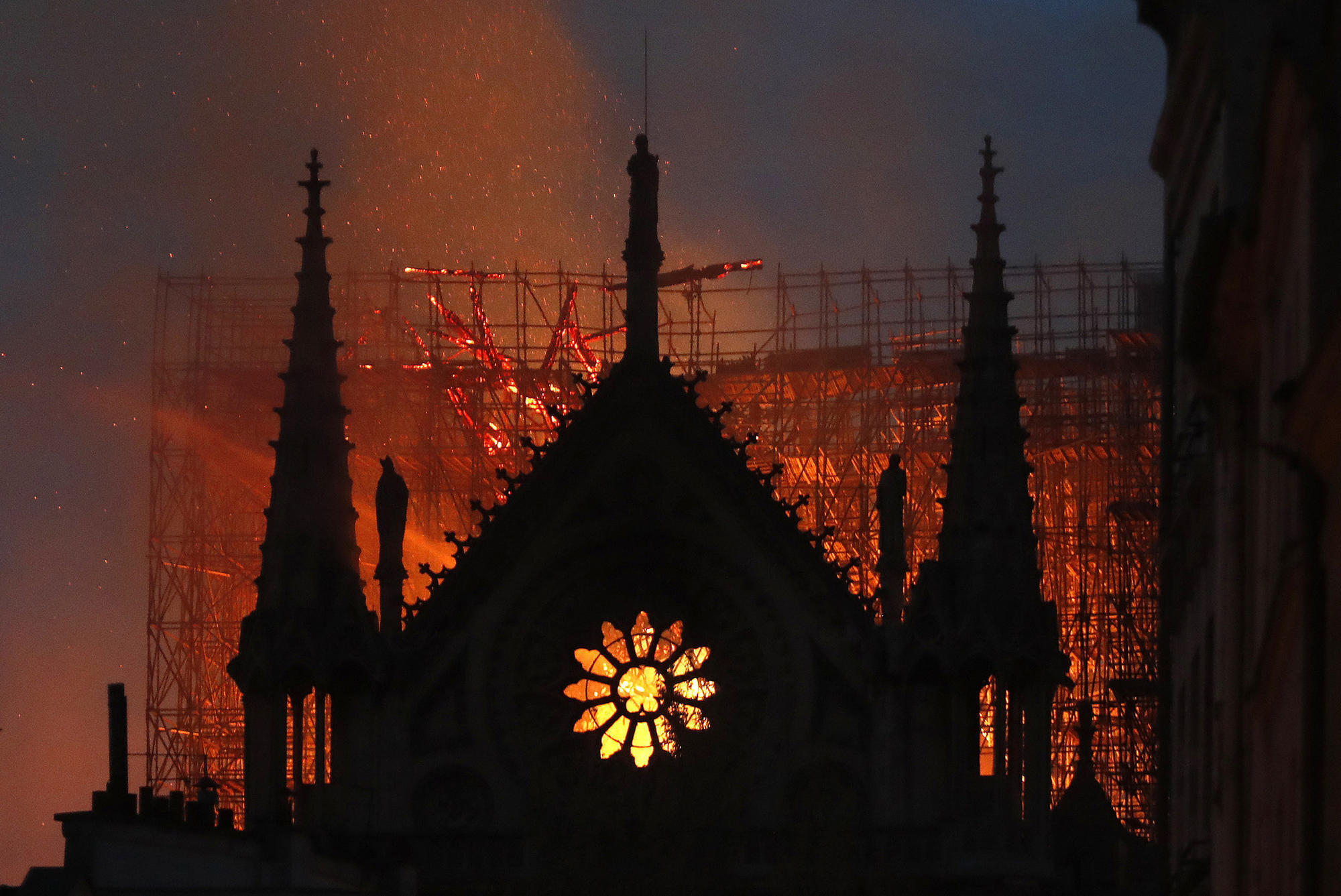 Notre Dame Cathedral devastated by fire, but part of the Paris icon is saved