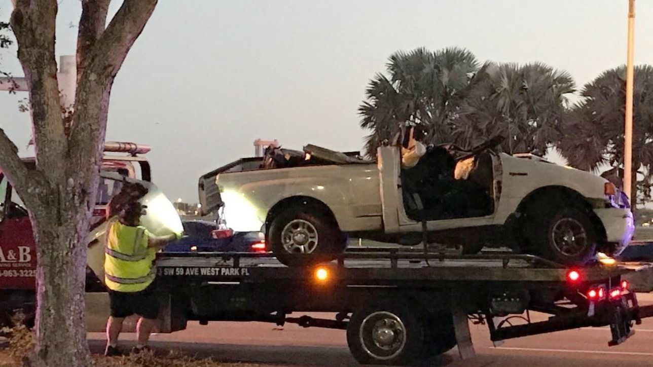 Driver dead in early morning crash near North Perry Airport
