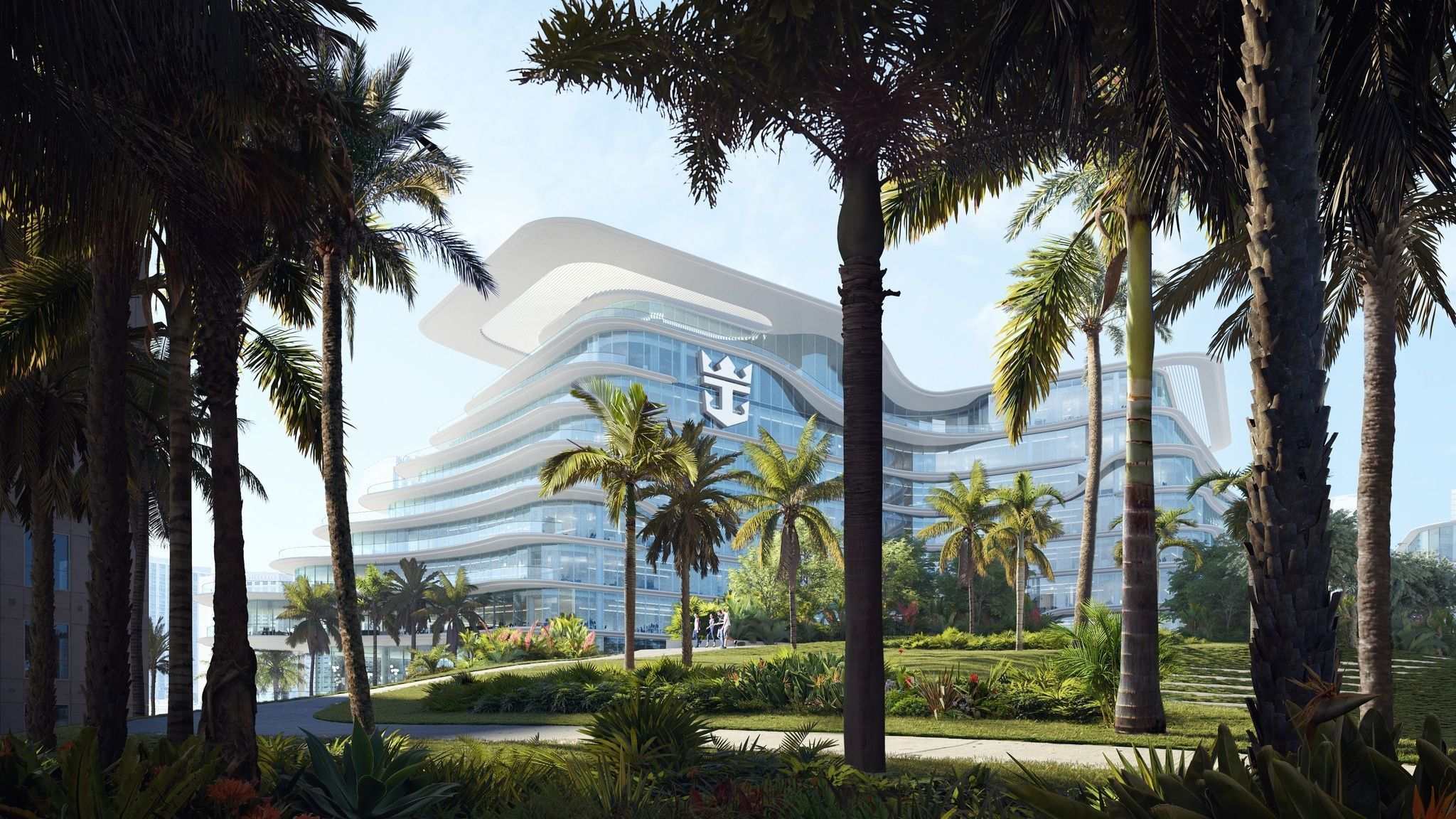Is that a cruise ship or an office building? Royal Caribbean's proposed new Miami headquarters is ship shape