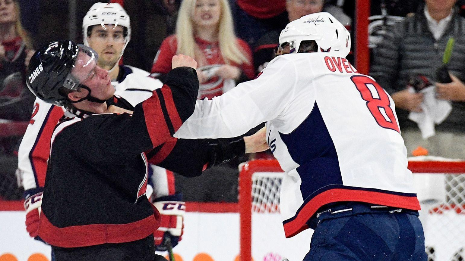 Hurricanes Rookie In Concussion Protocol After Taking Punch To Face From Capitals Alex Ovechkin