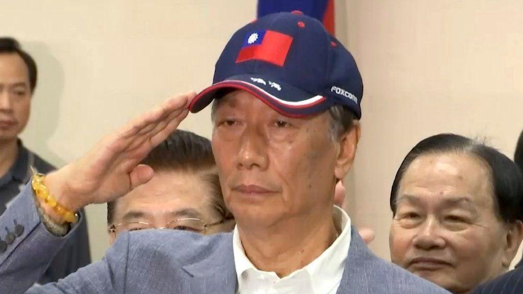 Head of Foxconn, inspired by a sea goddess, announces Taiwan presidential bid