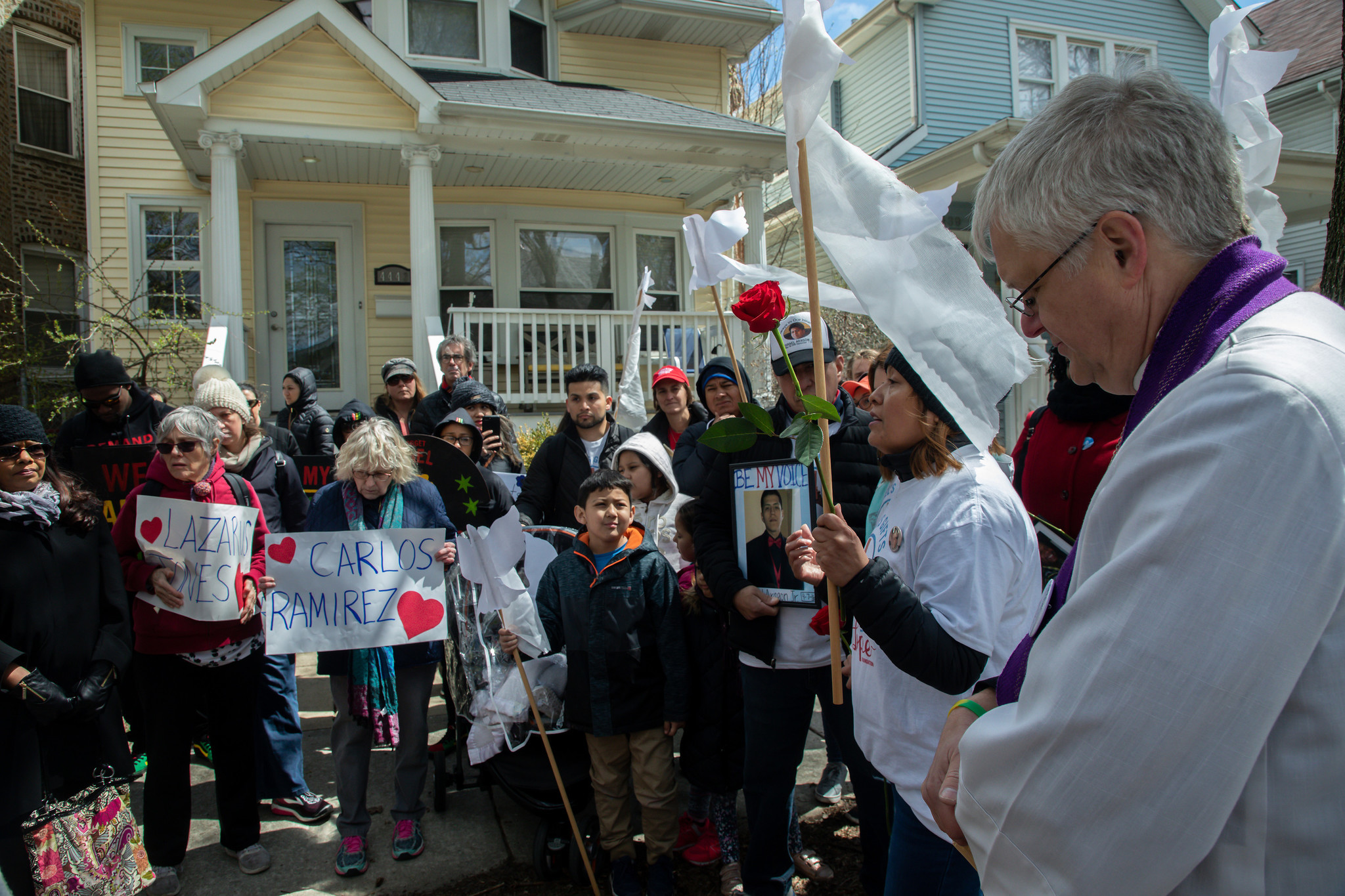 'Where he took his last breath': Walk for peace honors victims of violence where they died in Albany Park