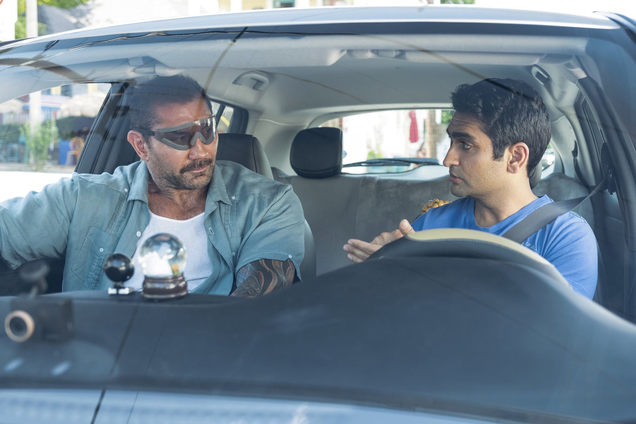 Kumail Nanjiani in the driver's seat with 'Stuber'