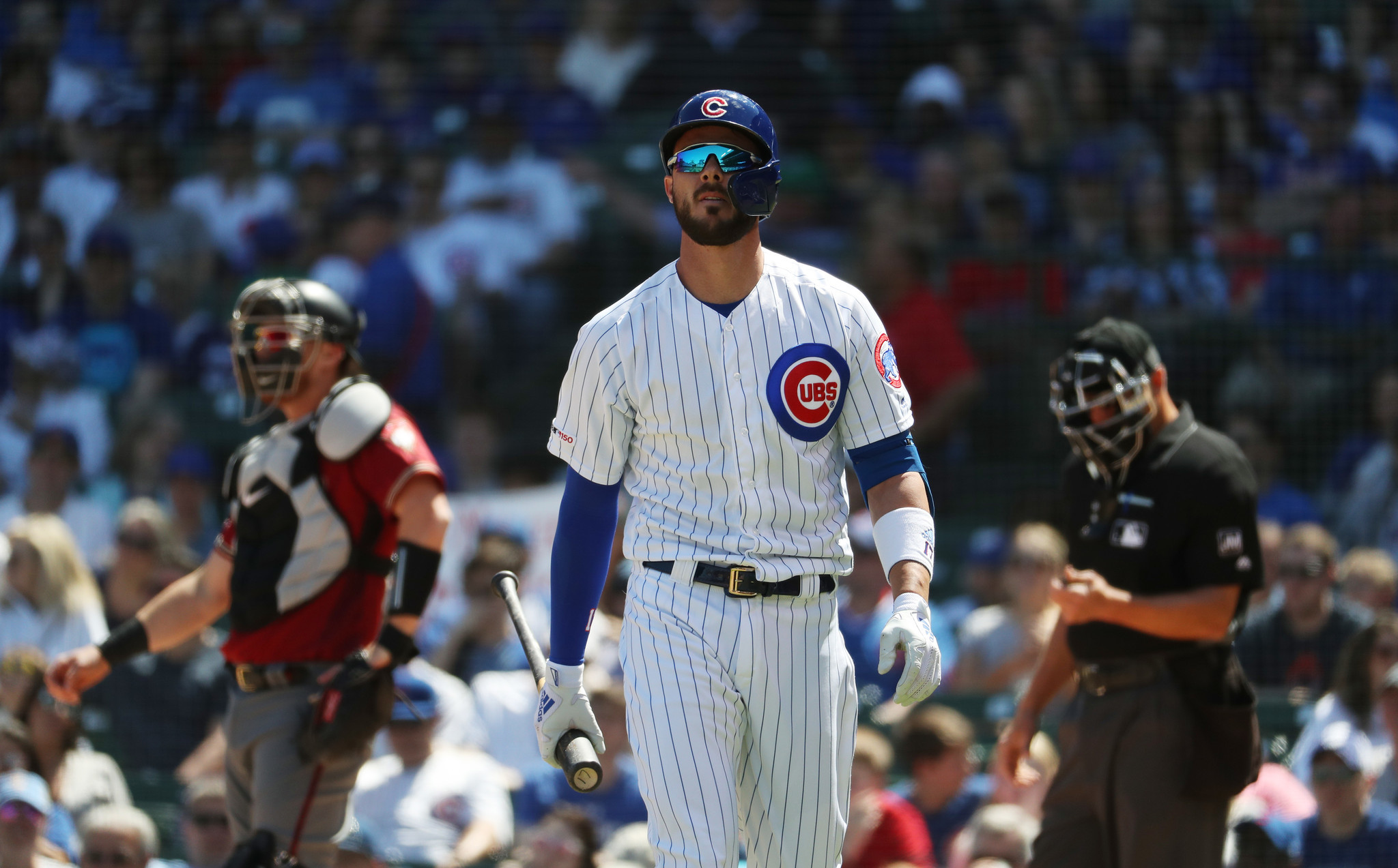Kris Bryant's career-best on-base streak ends at 26 games, but the Cubs slugger is showing signs he's returning to MVP form