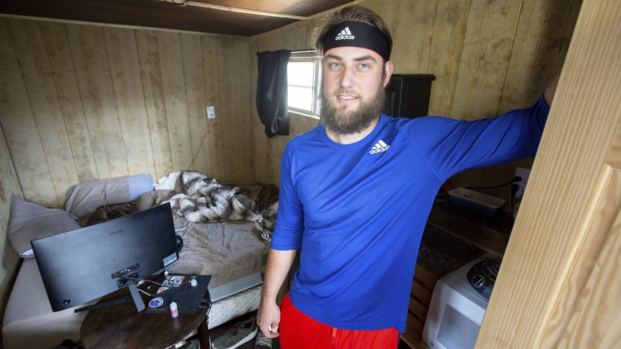 Iowa Cubs pitcher Trevor Clifton finds peace after building low-cost, 104-square-foot tiny house