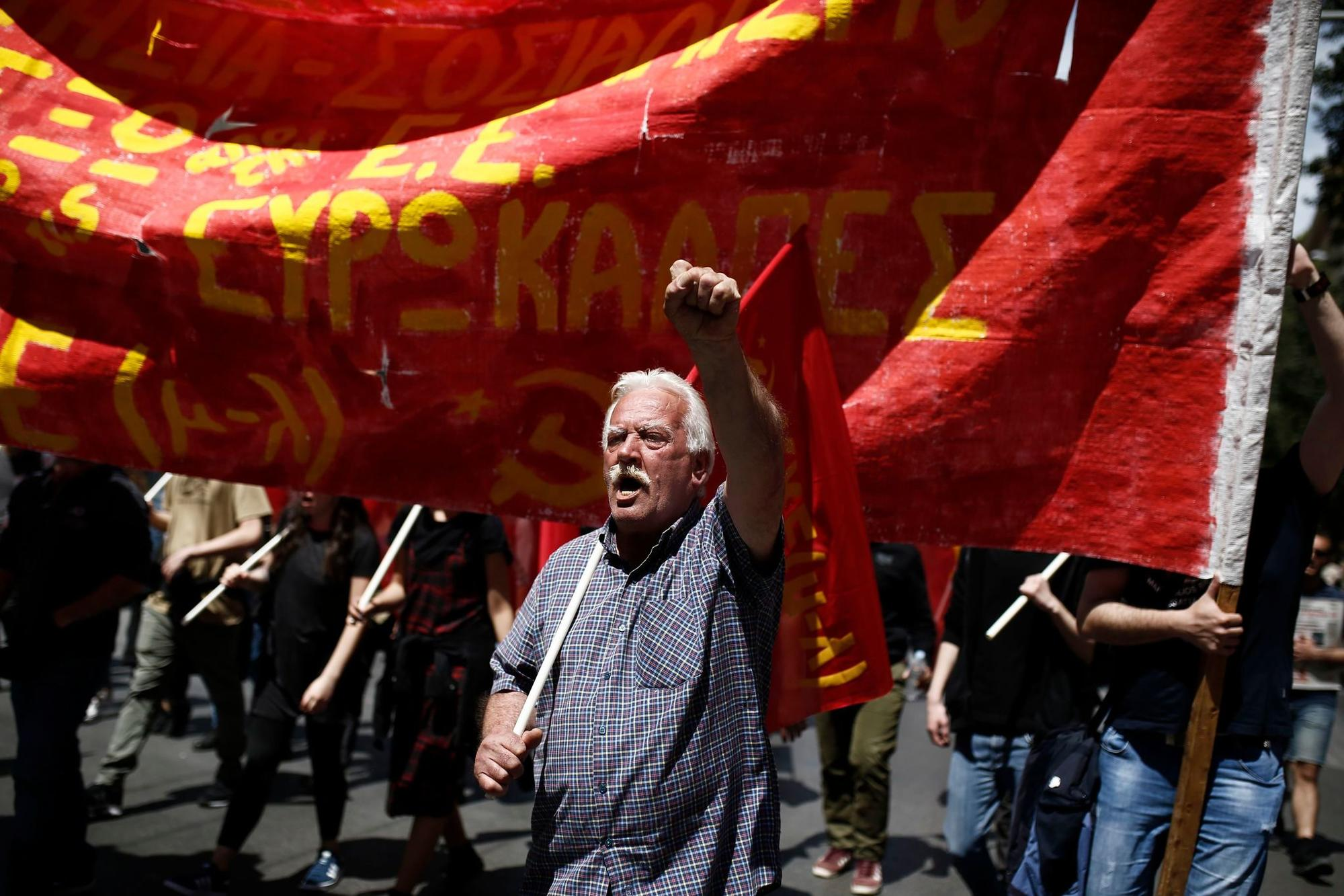 2019 May Day celebrations in Athens, Greece