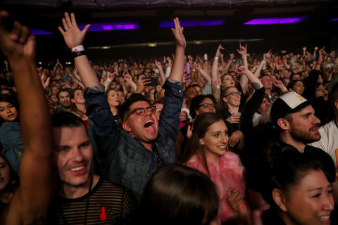 The crowd cheers as Lizzo performs at the Riviera Theatre in Chicago on Friday, May 3, 2019. (Chris Sweda/Chicago Tribune)