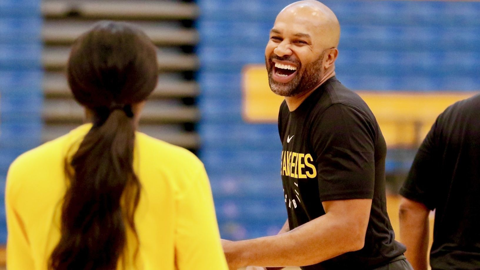Sparks open training camp with new coach in Derek Fisher and new bonds to forge