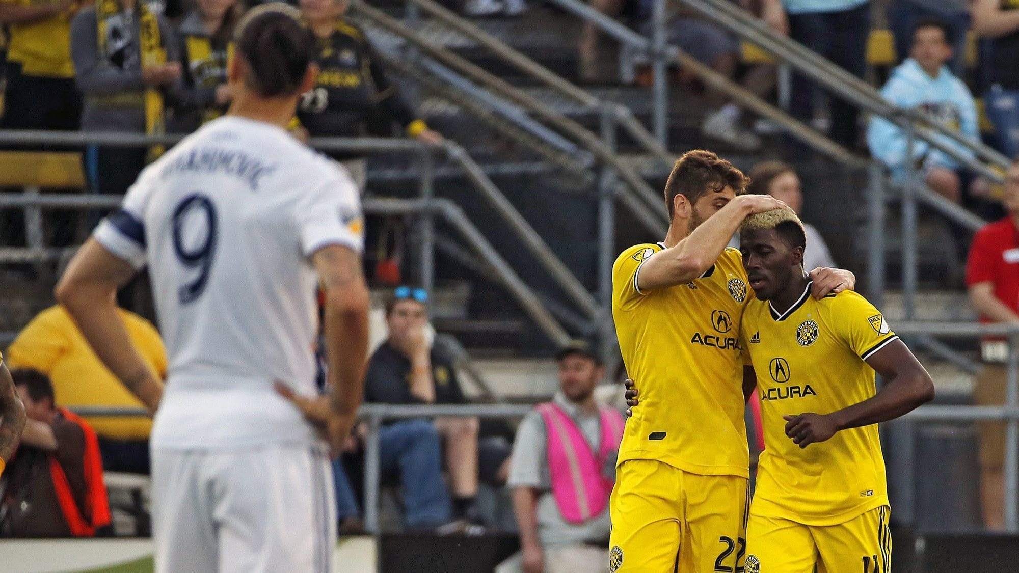 Galaxy cannot keep up with Columbus Crew's fast start in loss