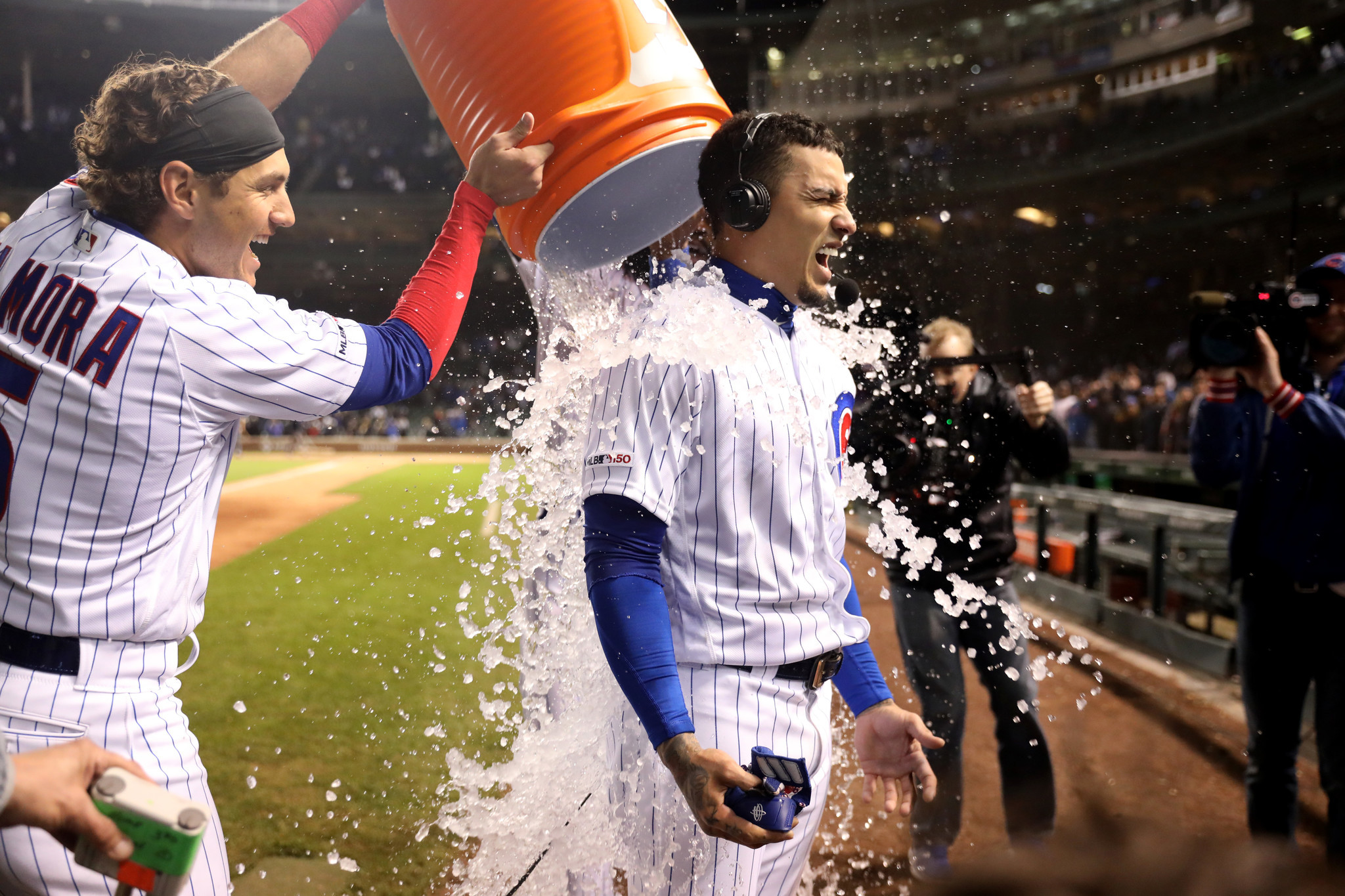 How Javier Baez talked his way into a pinch-hit, game-winning single in Tuesday's Cubs win
