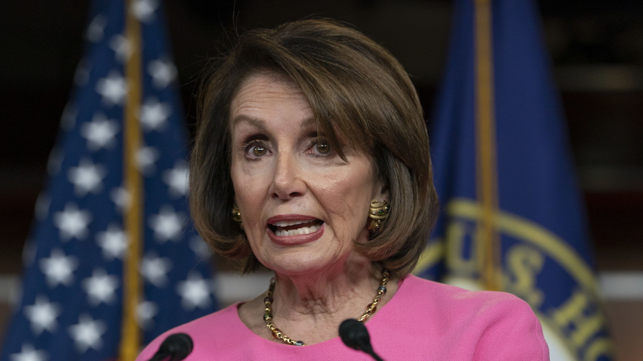 Nancy Pelosi questioned Donald Trump's fitness for office. He responded by calling her 'crazy' and himself a 'stable genius.'