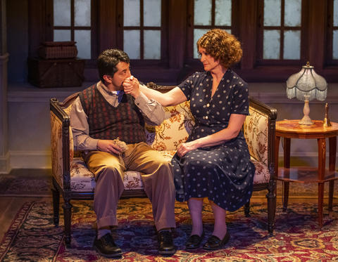 Israel Antonio and Lynda Shadrake in Griffin Theatre Company'sproduction ofFor Services Renderedat the Den Theatre through July 30.