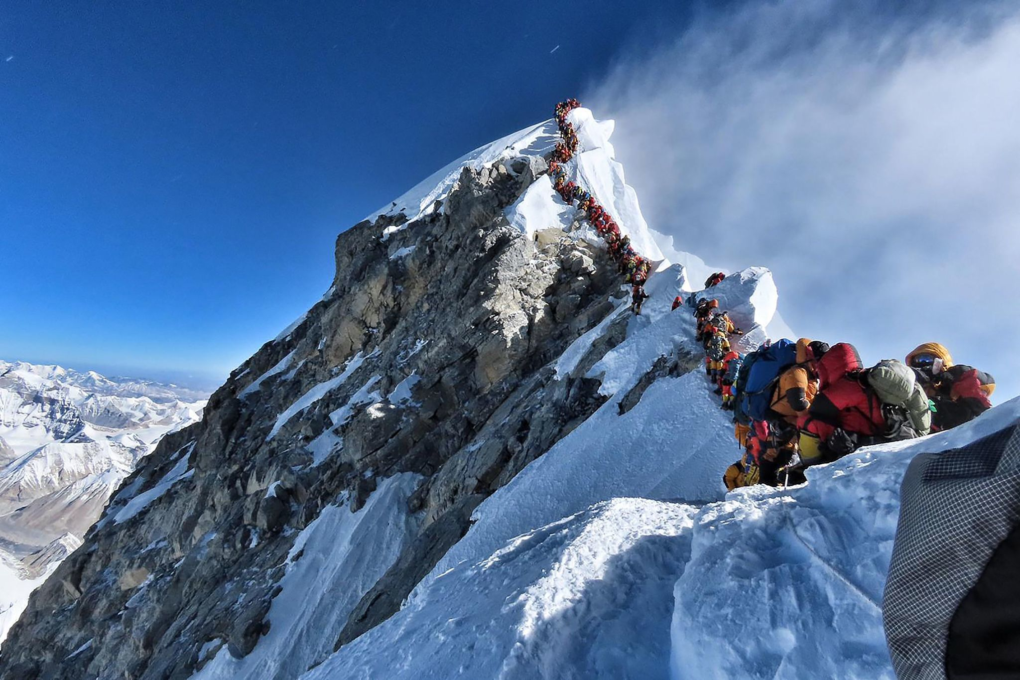 At least 5 dead on Mount Everest after human traffic jam near summit