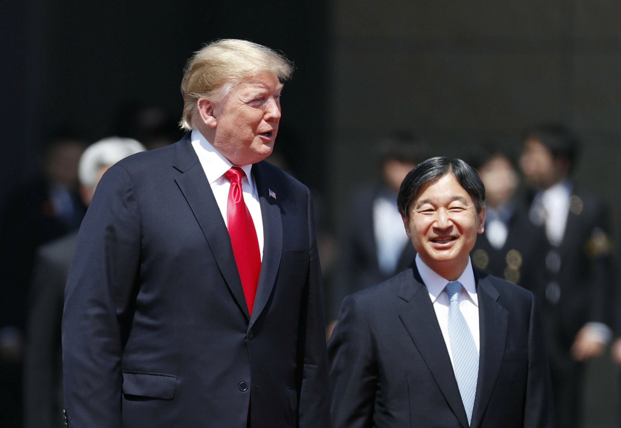 Trump becomes first world leader to meet new emperor of Japan