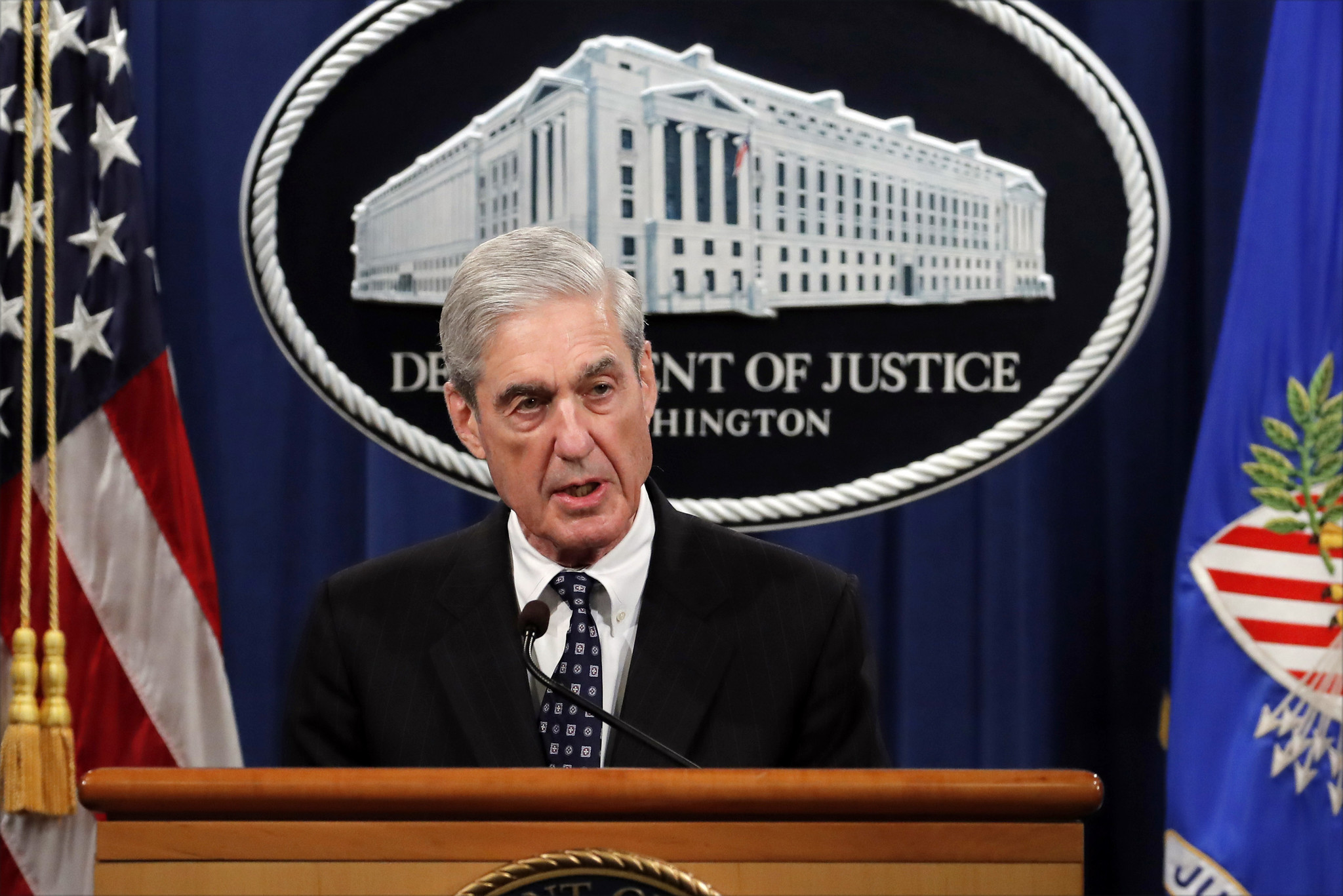 Image result for images of Robert Mueller on May 29, 2019