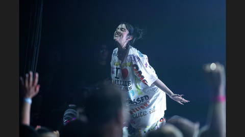 17-year-old Billie Eilish performs in front of a sold-out crowd Sunday, June 9, 2019, at the United Center in Chicago.