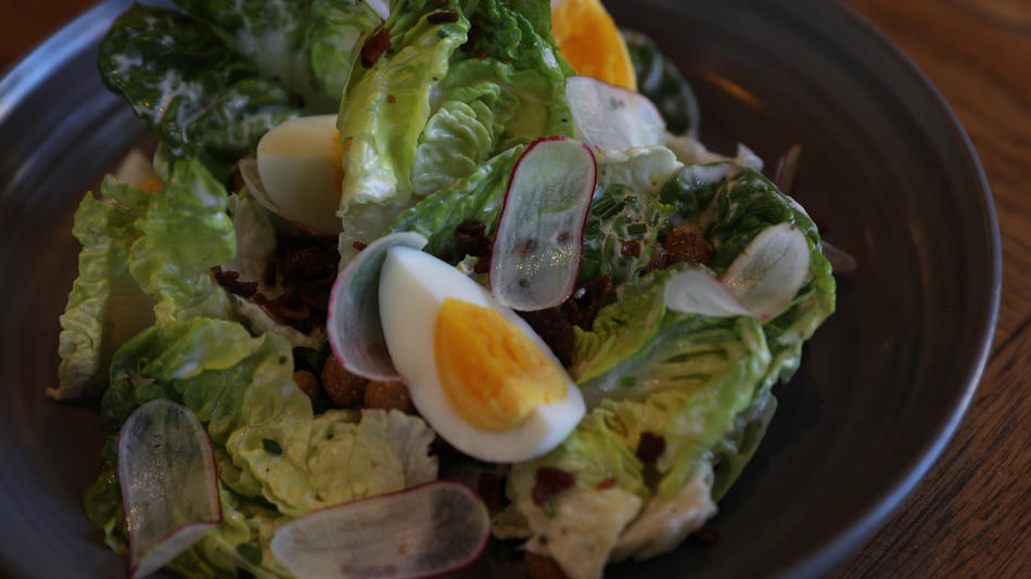 Gem lettuce salad at Virtue