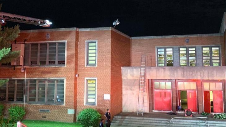 Firefighters knock blaze at Baltimore Collegiate School for Boys in North Baltimore