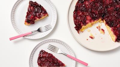 Cherry-Almond Upside Down Cake