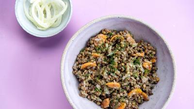 Vegan Lentil and Fennel Salad