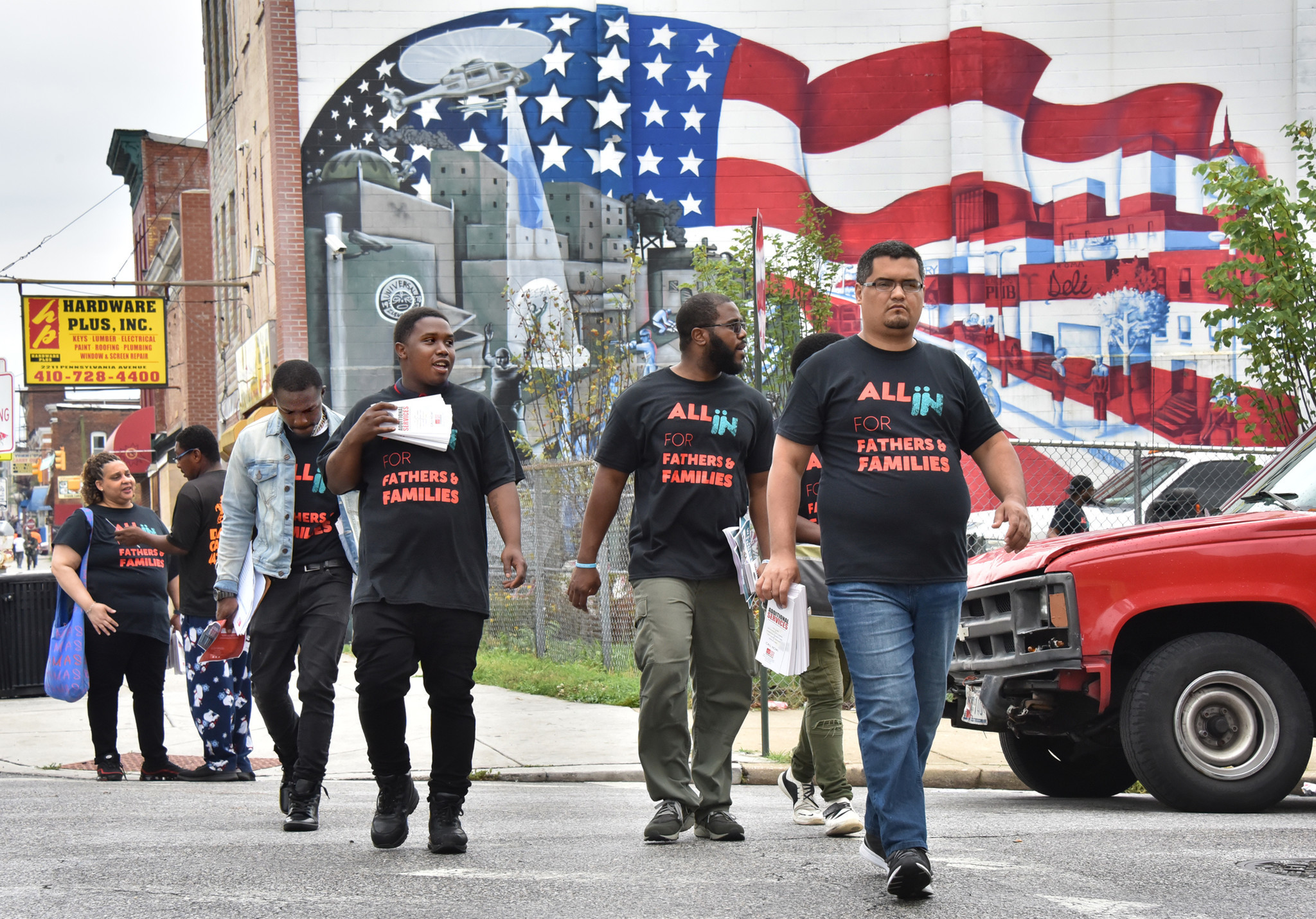 'That's where the problem starts — home': People march in West Baltimore for family restoration