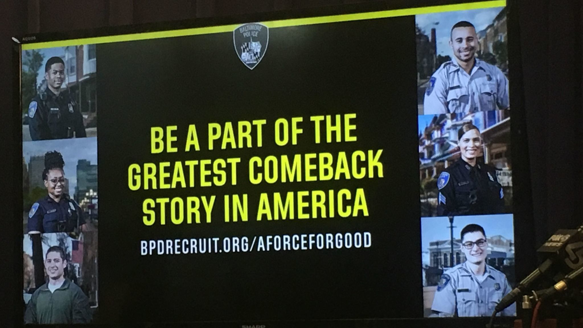Aspirations of 'The greatest comeback story in America': Baltimore Police launch recruitment campaign
