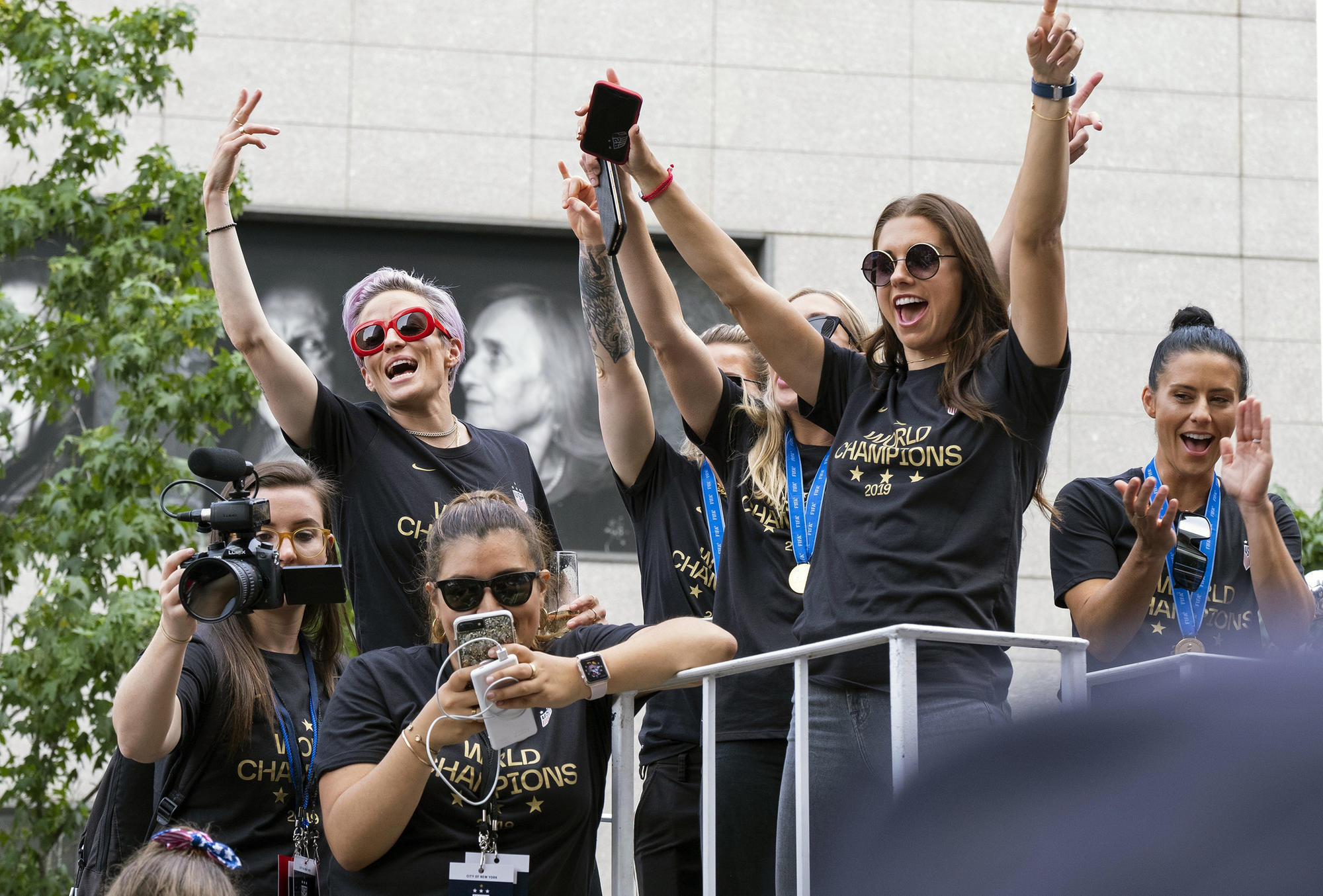 World Cup champs are honored with a ticker tape parade in New York