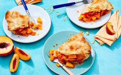 Peach Pie With Duck Fat Crust