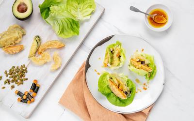 Firecracker Vegetable Tempura Lettuce Wraps