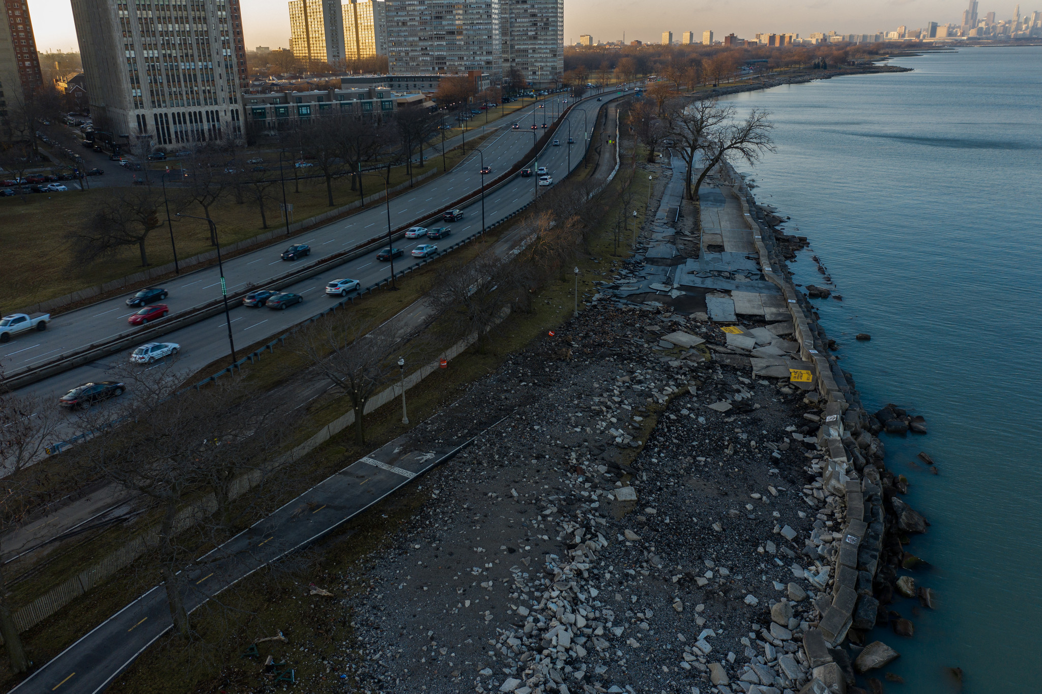 How bitter cold winter blasts and a warming planet will chew up the Lake Michigan shoreline, faster and faster