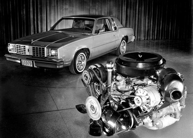 As bad as the 5.7-liter Olds diesel V8 was, the 4.3-liter version was worse.  Sold only in the '79 Cutlass, the 4.3 diesel made 90 hp before shattering into shrapnel.