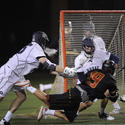 Maryland attackman Joe Cummings, Georgetown midfielder Kurt Watkinson
