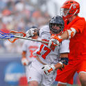 Tim Hardy of Syracuse defends against Virginia's Mike Thompson, 2008