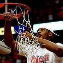 Carmelo Anthony cuts down the net