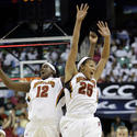 Marissa Coleman and Lynetta Kizer celebrate