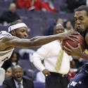 Navy 64, George Washington 57