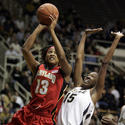 Demauria Liles shoots against Purdue