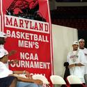 The championship flag for Maryland's new arena.