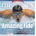Baltimore Sun front page: Phelps sets record for Olympic medals