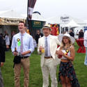 Actor Kevin Spacey (third from right) at Preakness 2013