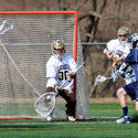 Villanova attackman Kevin Cunningham takes a shot against Lehigh goalie Matthew Poillon