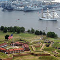 Passing Fort McHenry