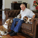Buck Showalter and his basset hounds